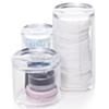 Boite De Rangement Maquillage , Rouges à Lèvres , Crayons , coton - 3 compartiments Avec Couvercle