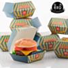 5 Pack De 8 Boîtes Pour Hamburgers BBQ Classics (40 pièces )