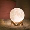 Lampe De Décoration 3D Veilleuse En Forme De Lune Avec Support