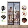 Moustiquaire Rideau Magnétique Anti-Insectes Pour Porte Avec Fermeture Aimanté  H 210 x L 90 cm