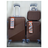 "Set 2 Valises + Vanity ""Sinop"" Marron"