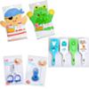 Kit De Bain Enfants Et Bébé Lili Care : Gant savonnage au choix + brosse à cheveux au choix + ciseau ou coupe ongle